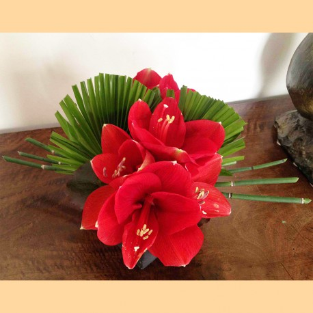 Centre de table amaryllis 2
